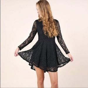 Altar'd State Black Ink Lace Dress